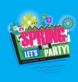 Spring abstract vintage retro banner sign vector image