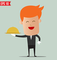 Waiter food service - - EPS10 vector image