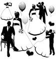 Wedding pairs vector image