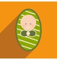 Modern flat icon with long shadow newborn baby vector image
