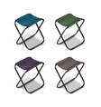 picnic folding chairs vector image vector image