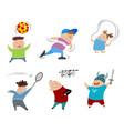 six children set vector image vector image