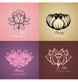 Lotus sign vector image vector image