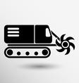 Machine digging cave icon button logo symbol vector image