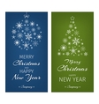 Multicolor christmas cards with ball and tree from vector image