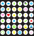colorful web icon set on circle vector image