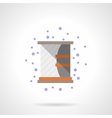 Shelf with mirror flat color icon vector image
