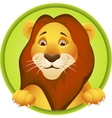 Lion head cartoon vector image vector image