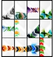 Set of arrow backgrounds vector image