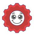 gears machine kawaii character vector image