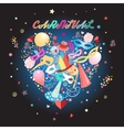 heart pattern carnival items vector image