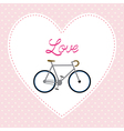 I love bicycle4 vector image