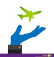 paper plane on businessman cartoon business vector image