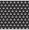 silver crowns pattern vector image