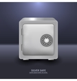 Silver security safe with combination lock vector image