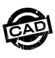 cad rubber stamp vector image