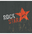 rock star poster vector image vector image