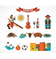 Argentina - set of icons vector image