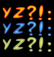 letters yz vector image