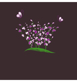 purple flower vector image vector image