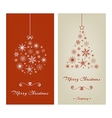 Marry Christmas cards with ball and tree from vector image vector image