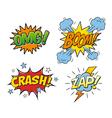Comic speech bubbles 01 vector image