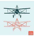 Old airplane icon vector image