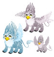 adult blue and gray griffon and small griffon vector image