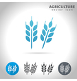 agriculture blue icon vector image