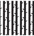 Black tree stem silhouettes seamless vector image