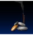 Burning incense stick vector image