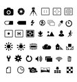 Camera settings icon vector image