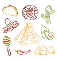 Mexico mexican food vector image
