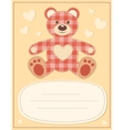Card with the teddy bear for baby shower 2 vector image vector image
