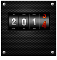 2014 New Year Analog Counter vector image