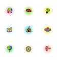 Entertainment for children icons set vector image