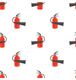 red metallic extinguisher seamless pattern vector image