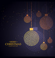 creative christmas balls design made with small vector image