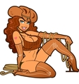 Sexy Leather Cowgirl vector image vector image