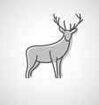 Deer logo design vector image