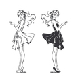 Girl in Dress vector image vector image