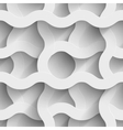 Abstract white paper waves 3d seamless background vector image