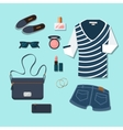 Casual young woman outfit vector image