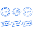 X-mas stamps vector image vector image