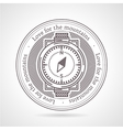 Abstract of compass icon with vector image