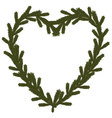 Christmas coniferous heart symbol vector image
