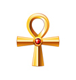 Egyptian cross ankh isolated on white vector image