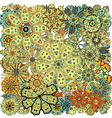 Ethnic colored floral beautiful Patterns vector image