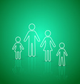 Family members outline icons vector image