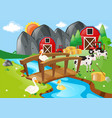 farm animals living on the farm vector image
